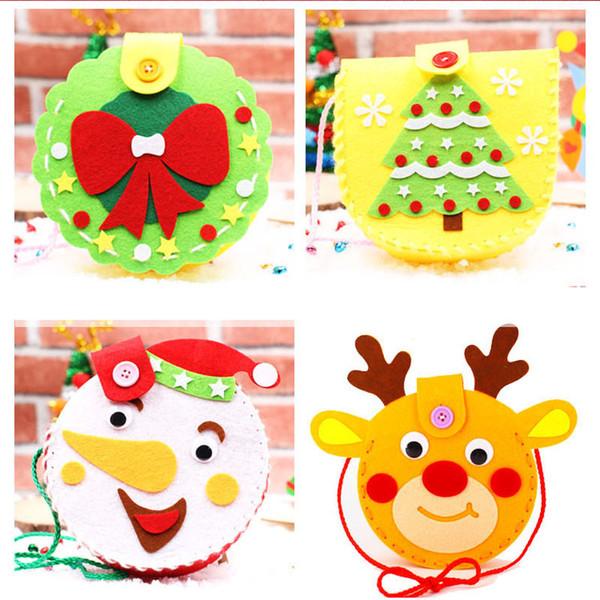 Acquista Commercio All Ingrosso Caldo Di Natale Fatti A Mano Fai Da Te Regali Bambini Borse Scuola Materna Ragazze Candy Bag Materiali Non Tessuti