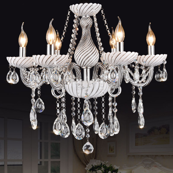 the best attitude eba5f e9a1c White Clear Chandelier Crystal Lights Bar Cafe KTV Light ...