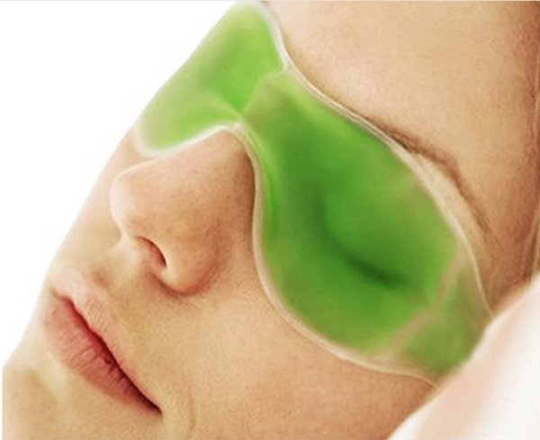 600 pcs DHL Mix cores gelo olho Máscara Sombreamento Verão óculos de gelo aliviar a fadiga ocular remover as olheiras gel de gelo bloco de dormir máscaras