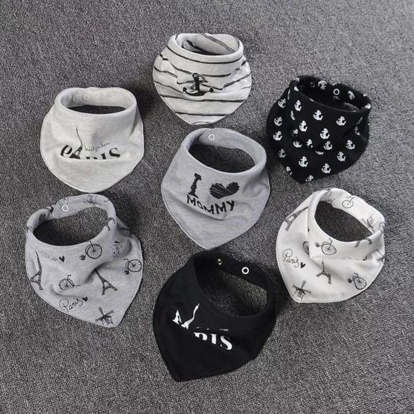 2 Pcs/lot Cotton Baby Bandana Bibs Double Layers Saliva Scarf Fashion Cartoon Print Baby Triangle Towel for Newborn Boy Girls