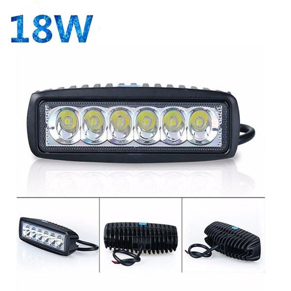 New 18W LED Car Work Light Bar Lamp Driving Fog Offroad SUV 4WD Car Boat Truck Floodlight LED work light Led Headlight for BMW