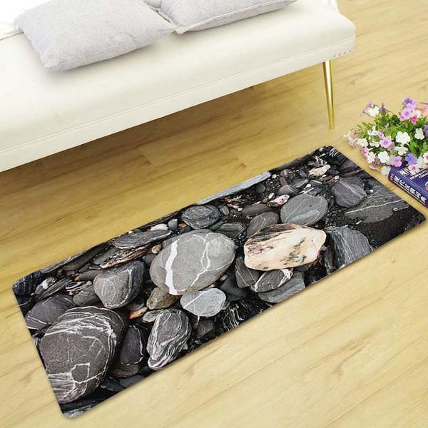 DropShip 3D Cobble Stone Long Floor Mats Doormats Non-Slip Sofa Carpets for Living Room Kitchen Bedroom Rugs Tatami alfombra
