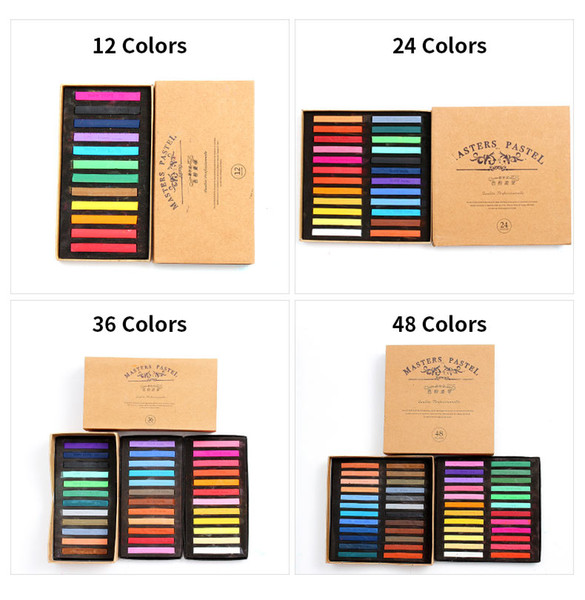 best selling Marie's Painting Crayons Soft Pastel 12 24 36 48 Colors Art Drawing For Student Chalk Color Crayon Brush Stationery Art Supplies
