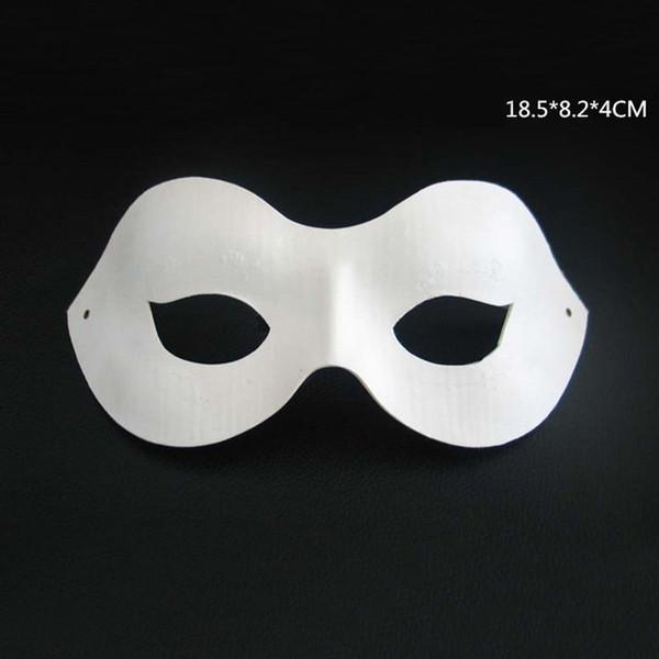 300pcs blanc non peint visage plaine / papier masque de pâte à papier bricolage danse Noël Party Halloween masque de mascarade ZA4617