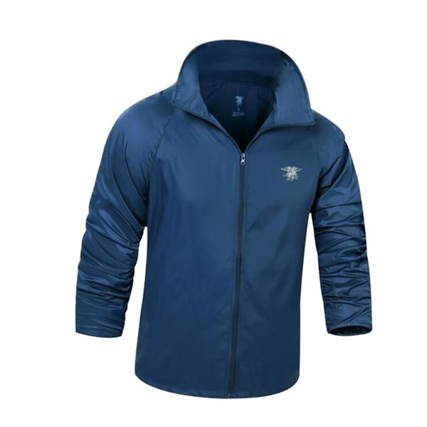 Men Summer Tactical Navy Seal Lightweight Camouflage Jacket Waterproof Thin Hood Raincoat Windbreaker Military Army Skin Jackets