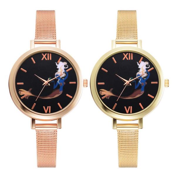 Fashion Rose Gold Quartz Wristwatches Watches Women ladies casual dress Roman digital watch