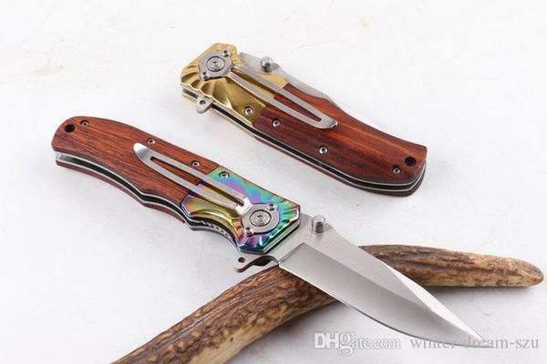 Браунинг FA32 Складной карманный нож Поход спасательные с быстрым открытием Деревянная ручка Туристическое снаряжение Туризм Рыболовные ножи для мужчин P55Q