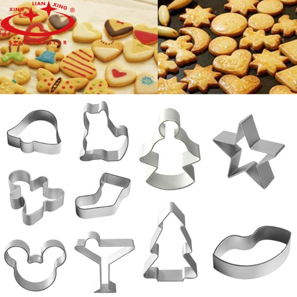 Wholesale- 1Pcs Aluminium Alloy Cookie Cutter Tools Gingerbread Men Shaped Holiday Biscuit Mold Kitchen cake Decorating Tools