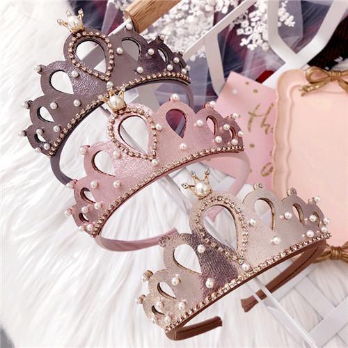 2018 12pcs/lot New Baby Hairpins Glitter Felt Crown Hair Sticks Royal Style Kids Headbands Girls Fashion Hair Sticks