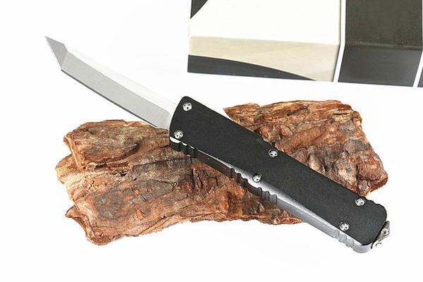 New Arrival MT UTX Mini Small Auto Tactical Knife D2 Tanto Satin Blade T6061 Aluminum Handle EDC Pocket Knives Xmas gift