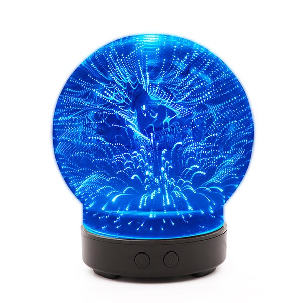 Colorful Aroma Lamp 3D Design Glass Star Effect Pattern Atmosphere Light 100ml 3D Aromatherapy Essential Oil Diffuser qiuxing