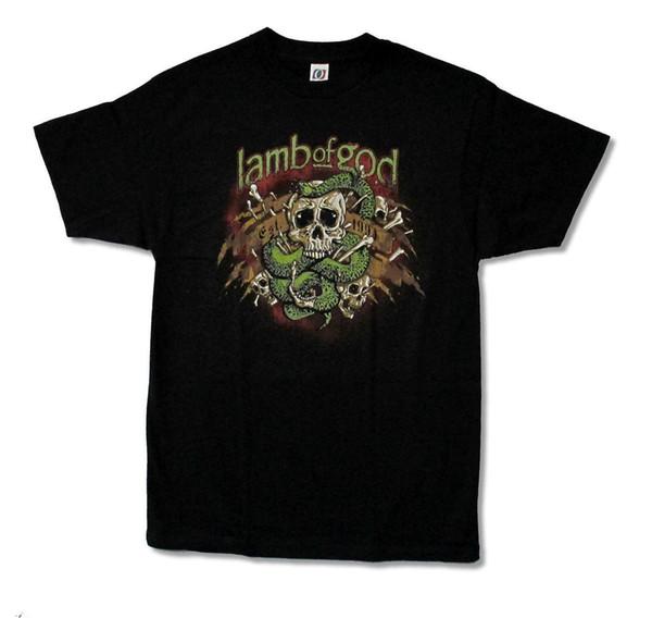 Lamb Of God Venom Snake Skull Est. 1994 Black T Shirt New Official Merch Mens 2018 fashion Brand T Shirt O-Neck