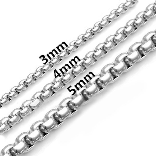New 5mm Punk Style Stainless Steel Mens Bracelet Classical Biker Bicycle Heavy Metal Link Chain Jewelry Bracelets For Me