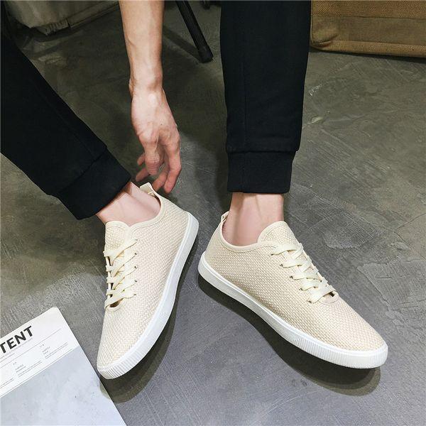 Низкая цена мода мужчины Повседневная обувь дышащий белье хлопок Мужская  обувь удобная молодежь лето свет Adultos ab9525ab68a97
