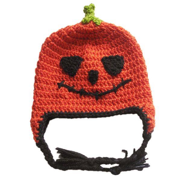 Super Cool Baby Pumpkin Hat,Handmade Crochet Jack-O-Lantern Hat,Baby Boy Girl Halloween Hat,Infant Halloween Costume,Toddler Photo Prop