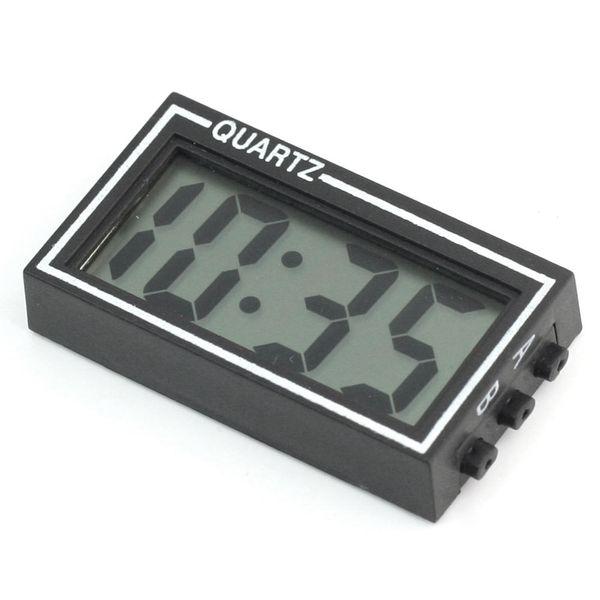 Wholesale-Automobile Car Mini Digital LCD Display Clock Date Time Calendar Electronic Desk Table Clocks Black