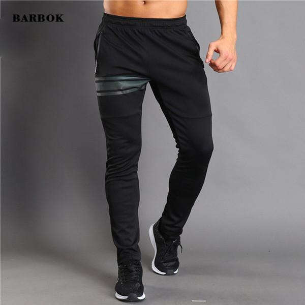 BARBOK лето новый фитнес спортивная одежда брюки для бодибилдинга мужской черный тренировка тренировка анти-пот брюки одежда