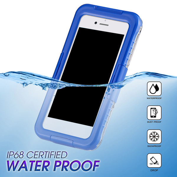 2018 New Arrival IP68 Waterproof Shockproof Dust proof Mobile Phone Case for Samsung Galaxy S8 S8 Plus S9 S9plus iPhone 8 7 6 plus 200pcs