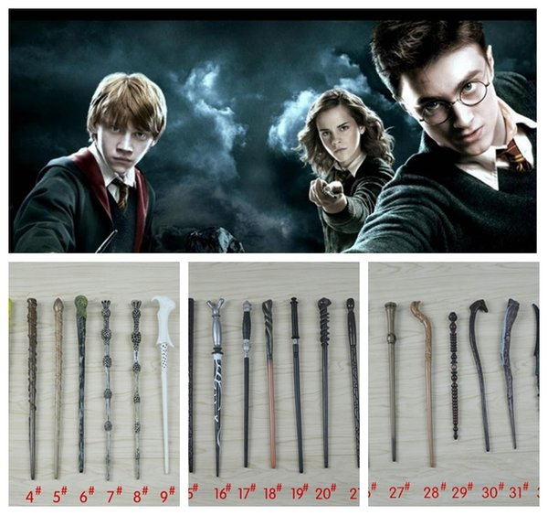 Harry Potter Magic Wand 34 design Cosplay Hermione Granger Role Play Resin Magical Wand Gift Box Harry Potter Magic Wands toy