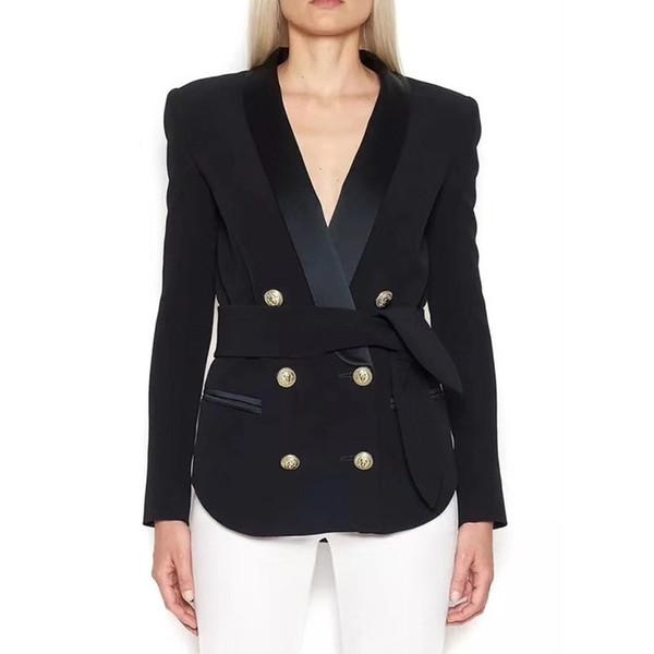 SHENGPALAE 2018 New Autumn Loose Full Sleeve Fashion V-Neck Elegant Single Breasted Casual Temperament Coat Women OA122