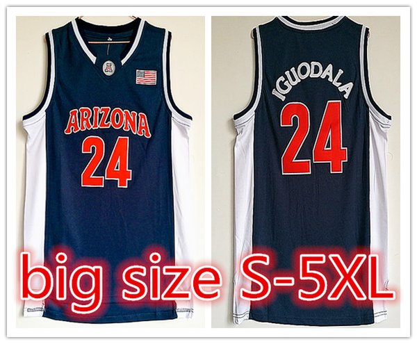 new arrival 2b9a6 efa72 2019 2018 Customized NCAA Arizona Wildcats College #24 Andre Iguodala  Basketball Jerseys Embroidery For Man YOUTH Size S 5XL Or Any Name Number  From ...