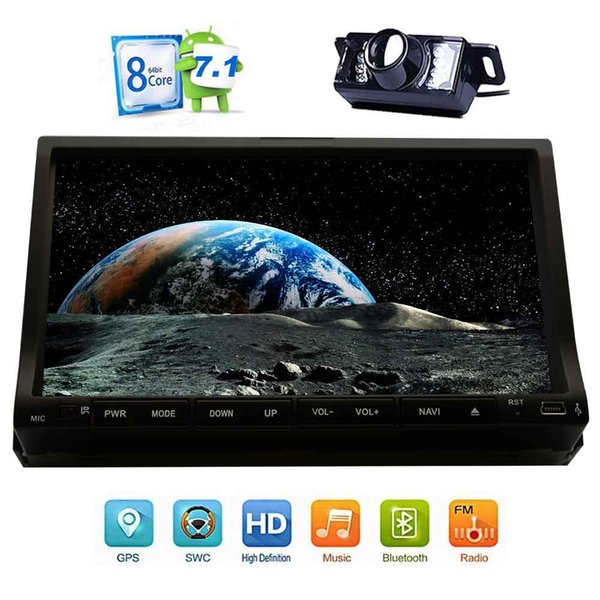 2GB+32GB Android 7.1 Octa Core Car dvd Stereo 2 Din Bluetooth Radio GPS Navigation Subwoofer USB SD 3G WIFI AV Output DVR