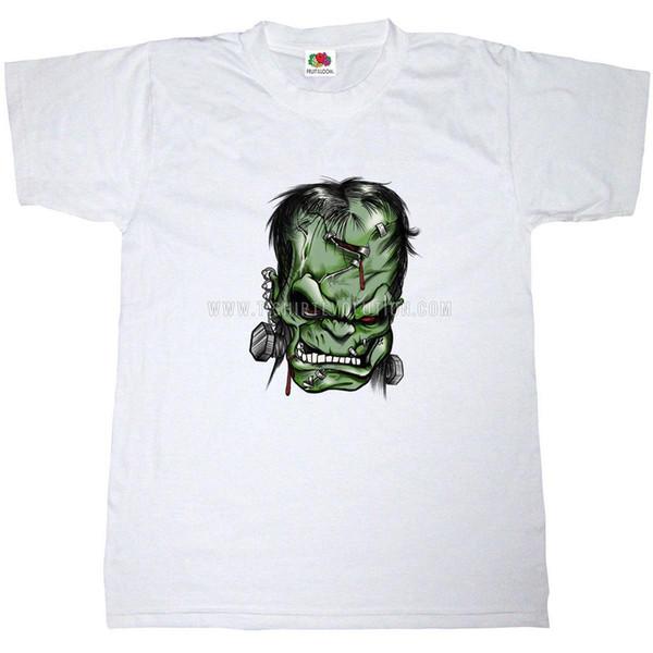FRANKENSTEIN MOVIE T-SHIRT 100% COTTON COMIC BOOK CARTOON ART HORROR FILM TEE Tee T Shirt NEW ARRIVAL
