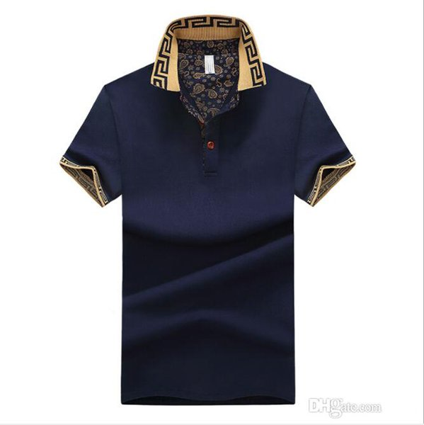 Erkek Gömlek Pamuk Casual Blend Kısa Kollu Trun Aşağı Yaka Yaz Ücretsiz Shippiing Erkek T-Shirt Asya Boyutu Tops