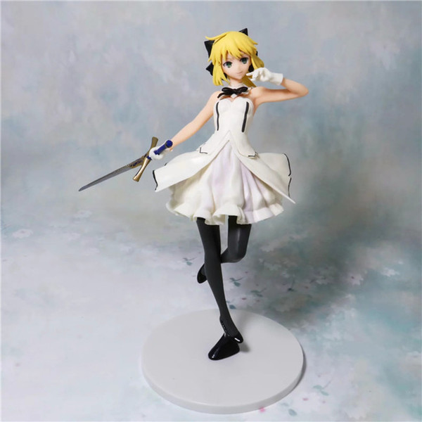 Demishop Anime Fate Grand Order Saber Lily Action Figure Altria Pendragon Saber PVC 23cm Collectible Model Toys