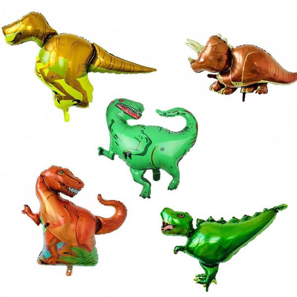 50pcs dinosaure Tyrannosaure Rex Raptors Triceratops ballons en aluminium feuille baby shower garçon enfants fête anniversaire décor enfants