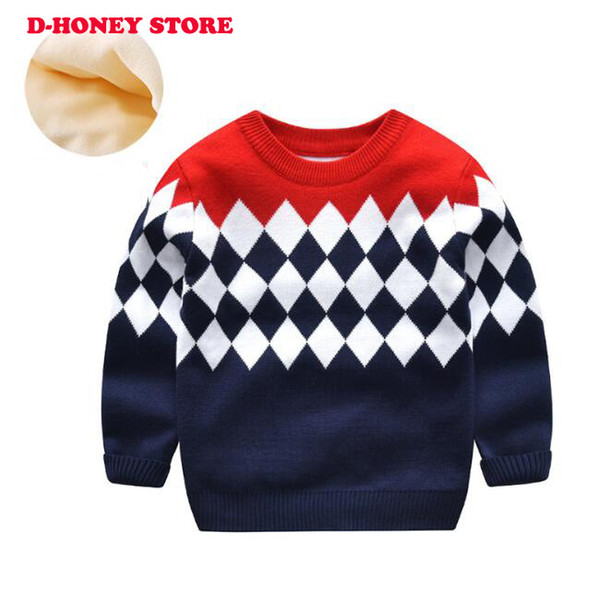 Autumn Baby Boys Sweater Toddler Boys Long-Sleeve Jumper Knitwear Patchwork Pullover for Boys High Quality Children's Clothing dhl