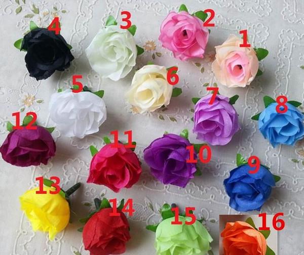 200 pcs Artificial Flores Heads Rosa Artificial Rose Bud Flores Artificiais Para As Decorações De Casamento Festa de Natal Flores De Seda Por Atacado