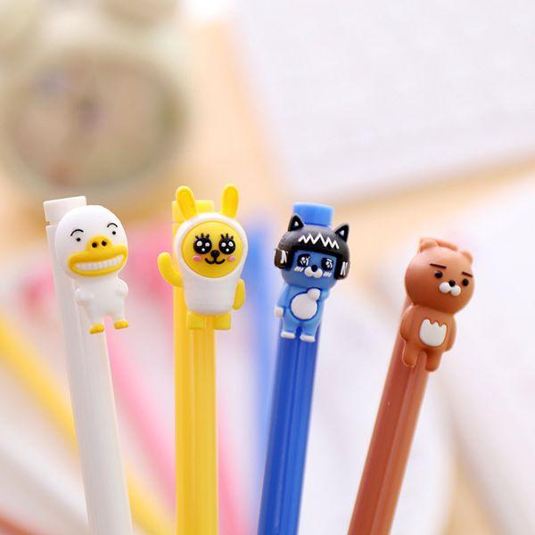2 pcs/lot Gel pen Neutral pen Cute Animal Black lnk pens Writting School Office stationery Lovely Students supplies Kawaii Gifts