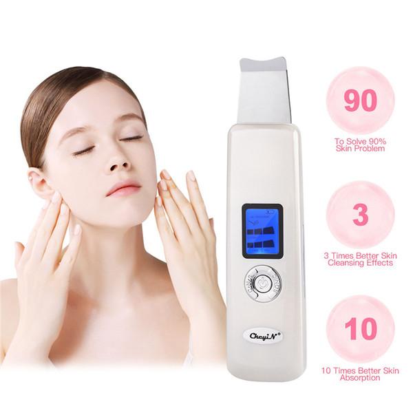 Ultrasonic Facial Purificadores De Limpeza Dead Skin Remover Negativo Positivo Ion Pele Cleaner Rosto Limpeza Profunda Beleza Instrumento 0