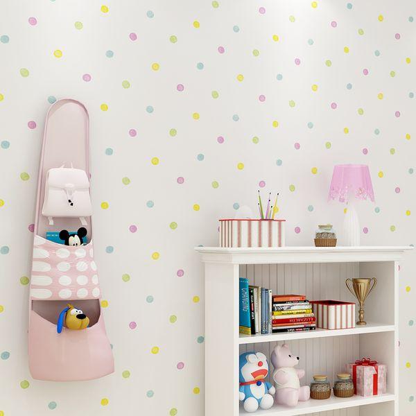 Großhandel 2018 Neue Bunte Punkte Tapete Kinderzimmer Wandaufkleber Baby  Schlafzimmer Tapeten Selbstklebende Kinderzimmer Tapeten Zp112 Von  Pureairr, ...