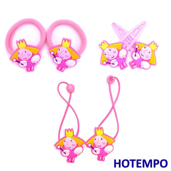 Ben Holly Little Kingdom Soft PVC Action Figure for Baby Girl Hair accessories Hair Pins BB Clips Rubber Band Gift