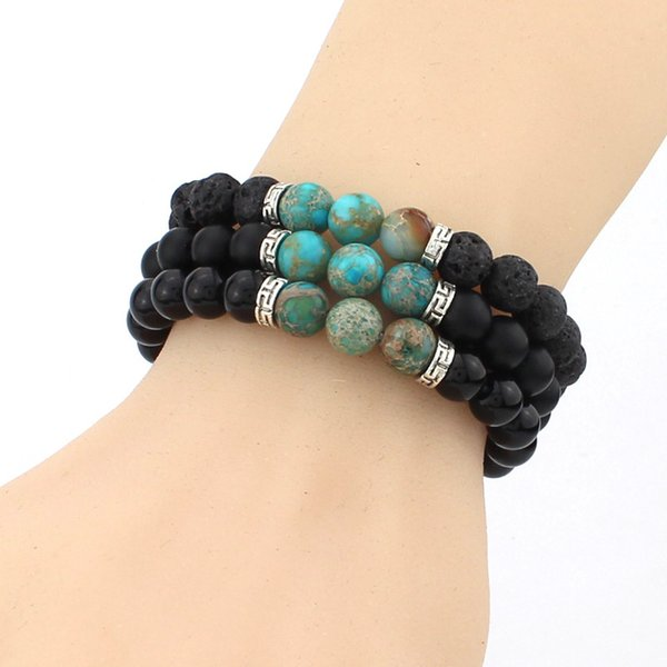 Fashion 7 Chakra Natural Lava Stone Bracelet Charm Yoga Beads Bracelets 16 Styles Essential Oil Diffuser Bracelet Unisex Jewelry Gift B348SF