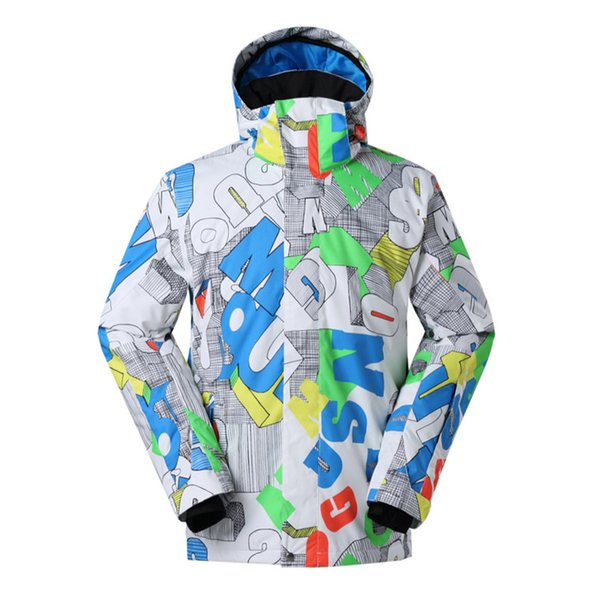 Gsou Snow Ski Jacket Men Snowboard High Quality Waterproof 10000 Male Skiing Jacket Outdoor Snowboarding Brand Winter Snow Coat