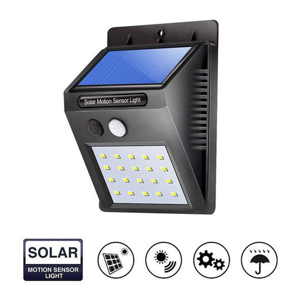 best selling 12 16 20 LED Solar Power PIR Motion Sensor Wall Light Outdoor Waterproof Street Yard Path Home Garden Security Lamp Energy Saving