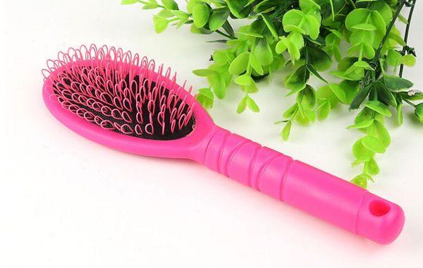 Hair Extension Pettine Spazzole Loop per capelli umani Estensioni Parrucche Spazzole Loop in pennelli per trucco Strumenti colore nero