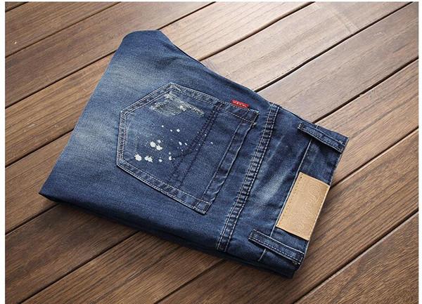 Marca dos homens Skinny Jeans 2018 Novo Estilo Clássico Elasticidade Denim Calças Casuais Masculinos Magros Calças Jeans Homens Black-bule