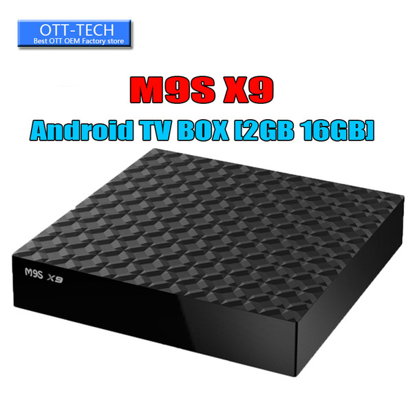 Фабрика 1 ГБ ОЗУ rk3229 M9S X9 4K Ultimate HD Android 6.0 Smart TV Box 8 ГБ Quad Core 2.0 ГГц Оборудование WIFI Smart TV Box 2G / 16G Bluetooth