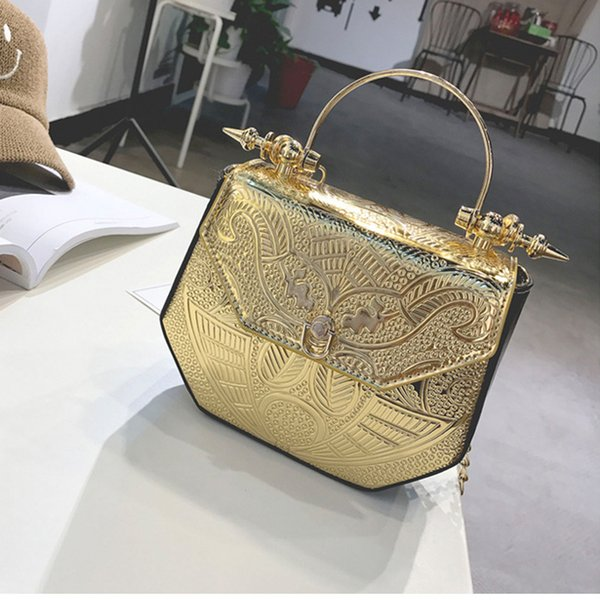 handbags pu patchwork shining shoulder bags