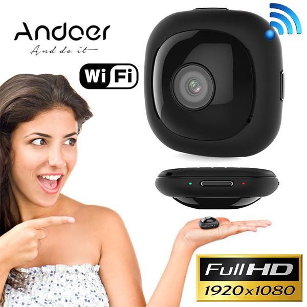 Andoer G1 Ultra Mini Caméra De Poche Full HD 1080 P Portable 120 Degrés Grand Angle 30FPS Wifi App Télécommande 8MP Auto Selfie