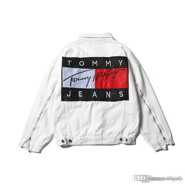 Hot Sale Men &#039 ;S Hip Hop Jeans Jacket Navy Blue Coat Women Tops Spring And Autumn Harajuku Summer Sweatshirts Men Womens Clothing Den
