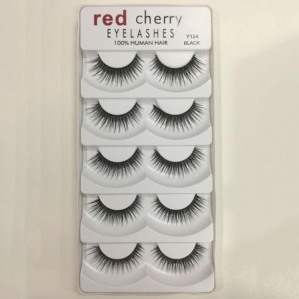 Red Cherry 3D False Eyelashes 5 Pairs/pack 8 Styles Natural Long Professional Makeup Big Eyes Wholesale 3001224