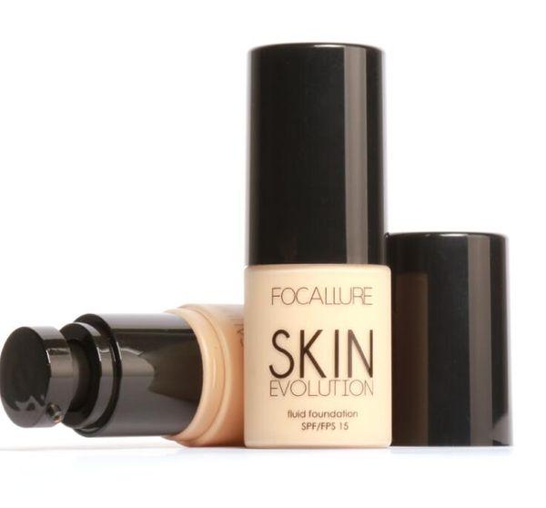 Fundação rosto Maquiagem Base Líquida Fundação BB Creme Corretivo de Clareamento Hidratante Oil-control Maquiagem SPF15 Frete Grátis