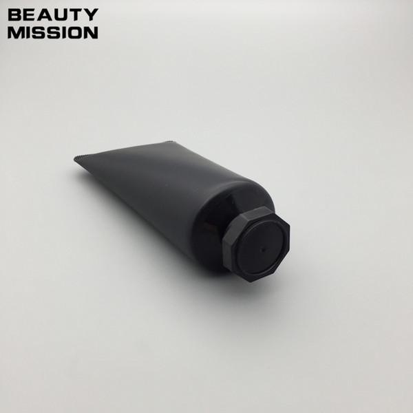 50 pz / lotto 50 ml nero vuoto morbido tubo crema cosmetica lozione shampoo contenitori detergente viso contenitori unguent spremere