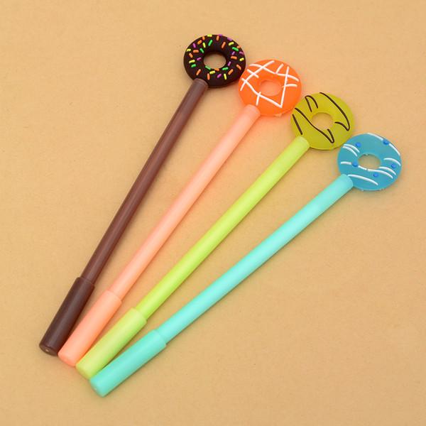 Penna di colore della caramella adorabile delle penne di ciambelle di Kawaii sveglie di 0.38mm per i rifornimenti di scuola del regalo della cancelleria dei bambini Regali dei capretti Trasporto libero