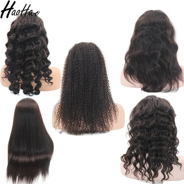 lace frontal Wig full lace wig Top grade high quality brazilian virgin human hair wigs for black women Free Shipping